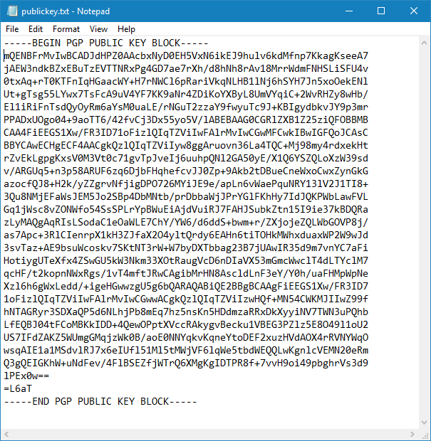 PGP messaging