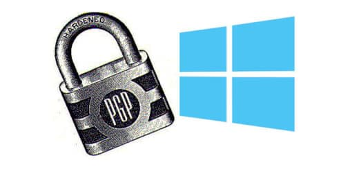 PGP Lock Graphic and Windows 10 logo